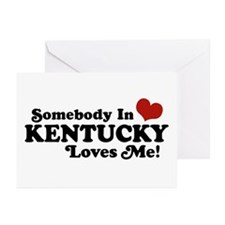 Somebody In Kentucky Loves Me Greeting Cards (Pk o