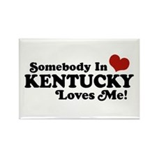 Somebody In Kentucky Loves Me Rectangle Magnet