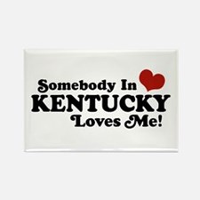 Somebody In Kentucky Loves Me Rectangle Magnet