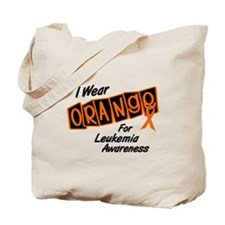 I Wear Orange For Leukemia Awareness 8 Tote Bag