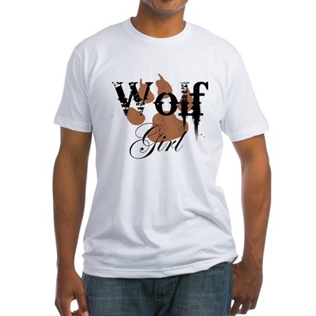 Wolf Girl Fitted T-Shirt