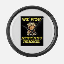 WE WON! WE WON! Large Wall Clock