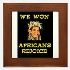 WE WON! WE WON! Framed Tile