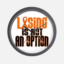 Losing Is Not An Option 5 ORANGE Wall Clock