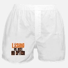 Losing Is Not An Option 5 ORANGE Boxer Shorts