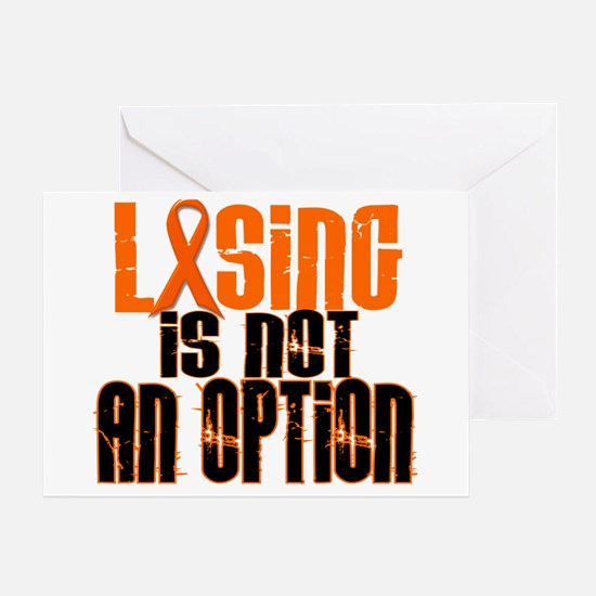 Losing Is Not An Option 5 ORANGE Greeting Card
