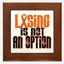 Losing Is Not An Option 5 ORANGE Framed Tile
