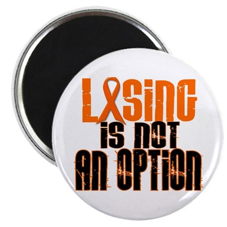 "Losing Is Not An Option 5 ORANGE 2.25"" Magnet (10"
