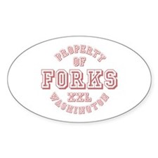Property of Forks Washington Oval Decal