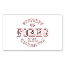 Property of Forks Washington Rectangle Decal