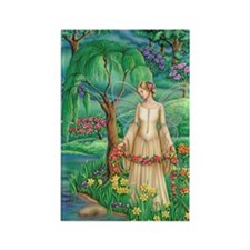 Lady of Lake Rectangle Magnet