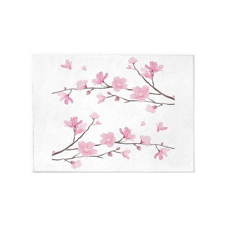 Cherry Blossom 5u0027x7u0027Area Rug