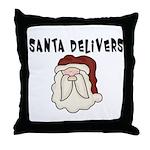 Santa Delivers Throw Pillow