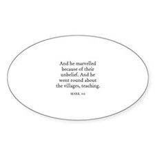 MARK 6:6 Oval Decal