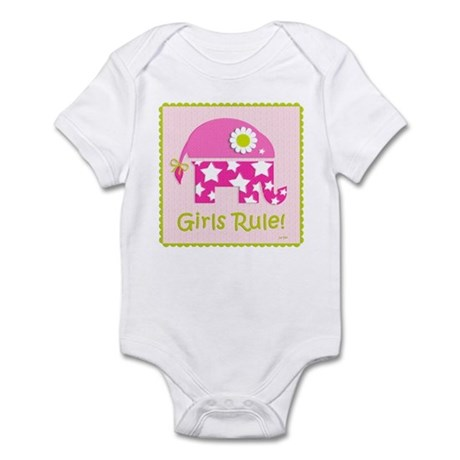Girls Rule! Elephant Infant Bodysuit