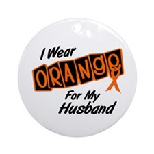 I Wear Orange For My Husband 8 Ornament (Round)