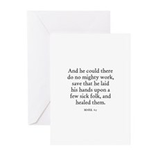 MARK  6:5 Greeting Cards (Pk of 10)