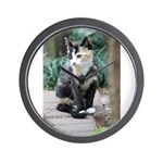 Feral Cat Colony Wall Clock