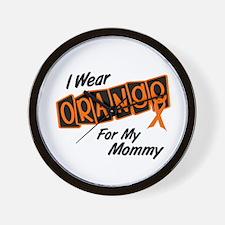 I Wear Orange For My Mommy 8 Wall Clock