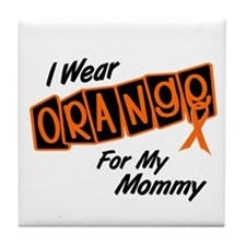 I Wear Orange For My Mommy 8 Tile Coaster