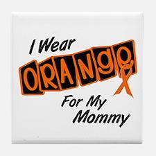 I Wear Orange For My Mommy 8 Tile Coaster