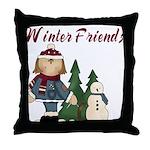 Winter Friends Throw Pillow