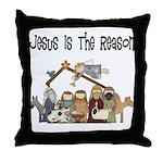 Jesus is the Reason Throw Pillow