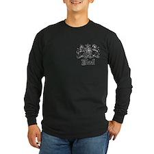 Black Vintage Crest Family Name T