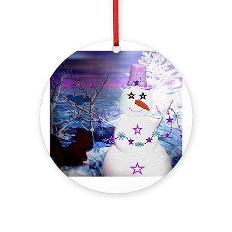 Mrs. Snowzie Holiday Ornament (Round)