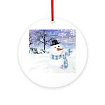 The Snowman Ornament (Round)