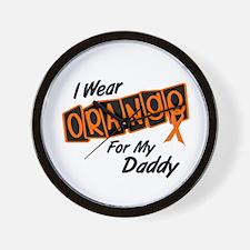 I Wear Orange For My Daddy 8 Wall Clock