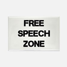 Free Speech Rectangle Magnet