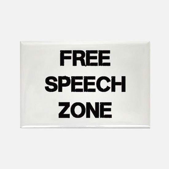 Free Speech Rectangle Magnet