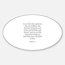 MARK 6:3 Oval Decal