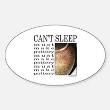POTTER/POTTERY Oval Decal