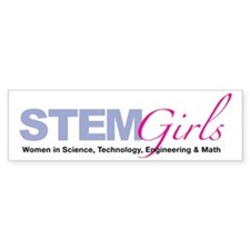 STEMGirls Logo Gear Bumper Bumper Sticker