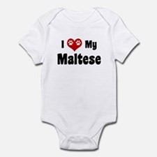 I Love My Maltese Infant Bodysuit