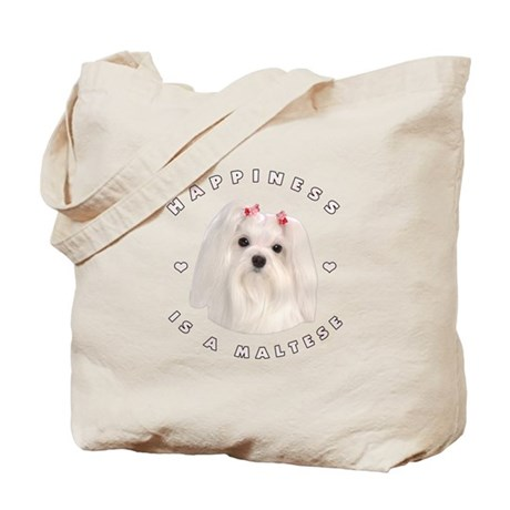 Happiness is a Maltese! Tote Bag