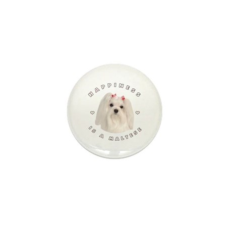 Happiness is a Maltese! Mini Button (10 pack)