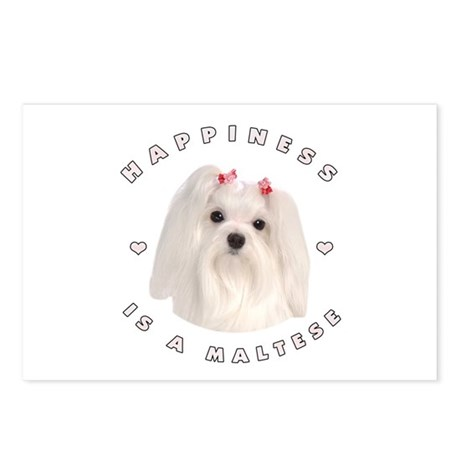 Happiness is a Maltese! Postcards (Package of 8)
