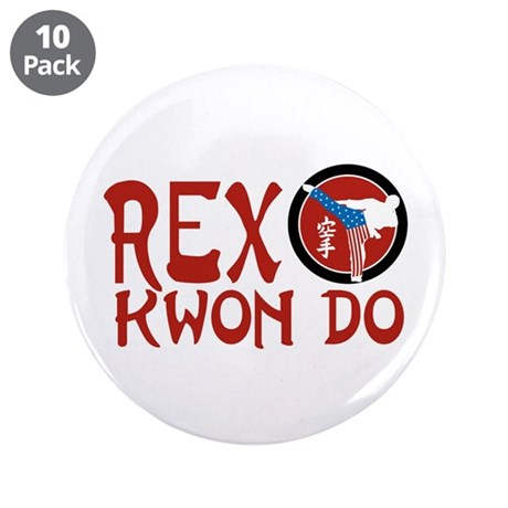 "Rex Kwon Do 3.5"" Button (10 pack)"