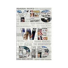 Yes We Did: Historic Obama Ne Rectangle Magnet (10