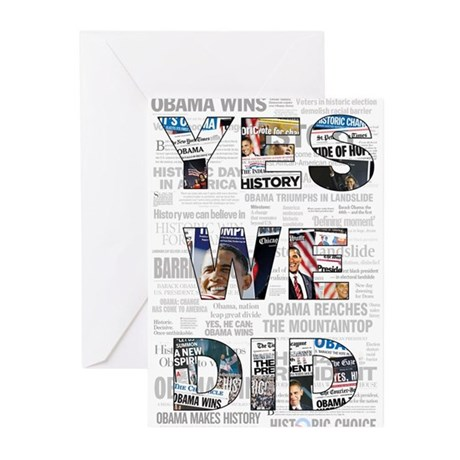 Yes We Did: Historic Obama Ne Greeting Cards (Pk o
