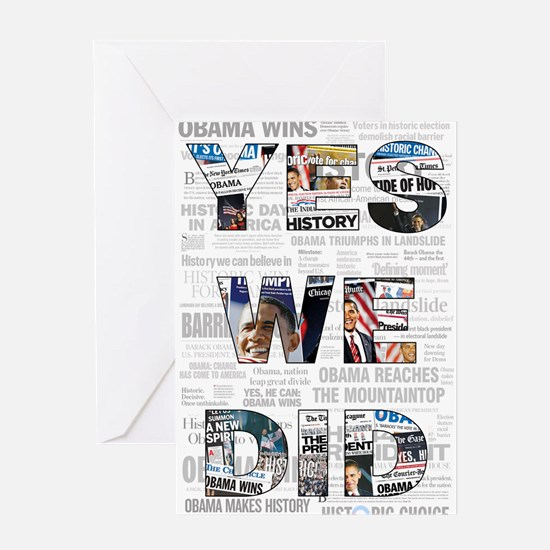 Yes We Did: Historic Obama Ne Greeting Card