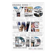Yes We Did: Historic Obama Ne Postcards (Package o