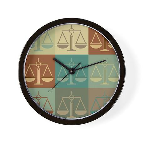 Paralegal Work Pop Art Wall Clock