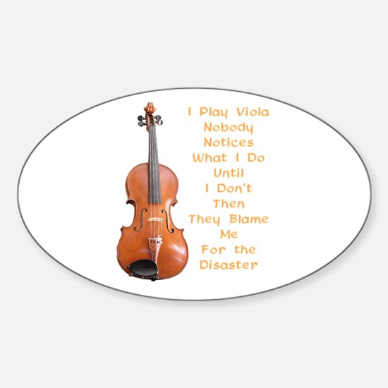 I Play Viola Oval Decal
