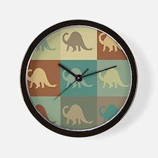 Paleontology Pop Art Wall Clock