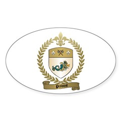 PROVOST Family Crest Oval Decal