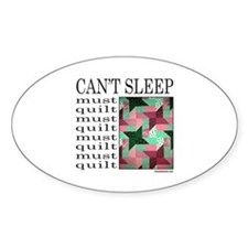 QUILT/QUILTING Oval Decal